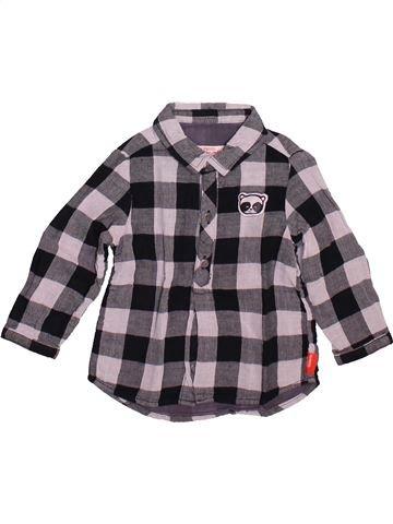 Chemise manches longues garçon DPAM gris 12 mois hiver #1491063_1