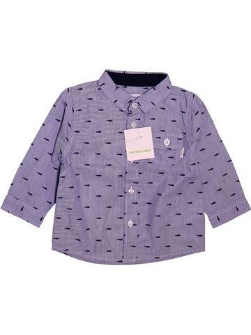 Chemise manches longues garçon VERTBAUDET gris 12 mois hiver #1491068_1