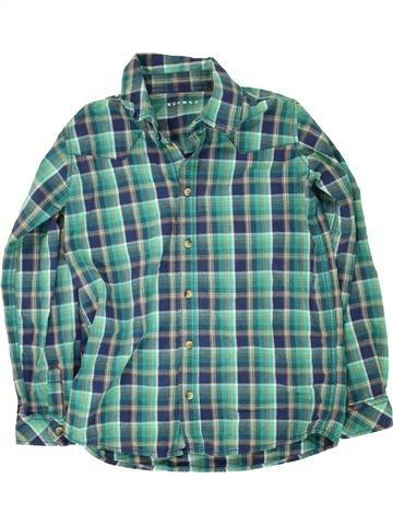 Chemise manches longues garçon NUTMEG vert 13 ans hiver #1491186_1