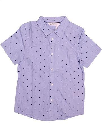 Chemise manches courtes garçon H&M gris 8 ans été #1491351_1