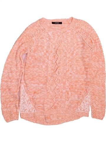 Pull fille GEORGE rose 11 ans hiver #1491396_1