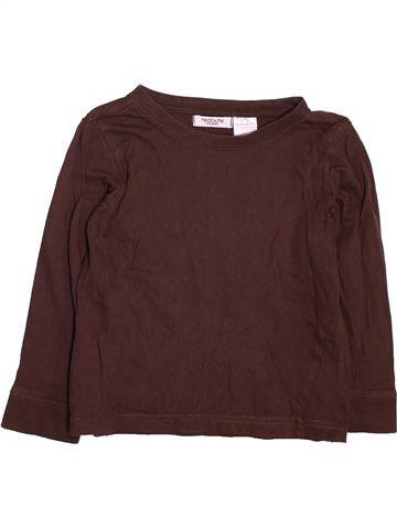 T-shirt manches longues garçon LA REDOUTE CRÉATION marron 4 ans hiver #1491507_1