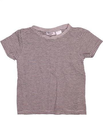Camiseta de manga corta niño LA REDOUTE CRÉATION gris 4 años verano #1491519_1