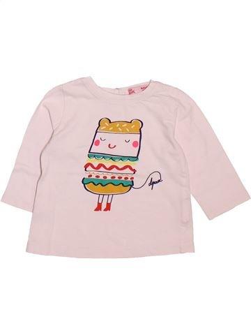 T-shirt manches longues fille DPAM blanc 6 mois hiver #1491541_1
