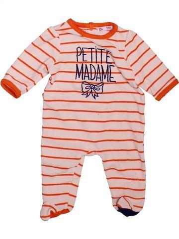 Pyjama 1 pièce fille DPAM violet 3 mois hiver #1491575_1