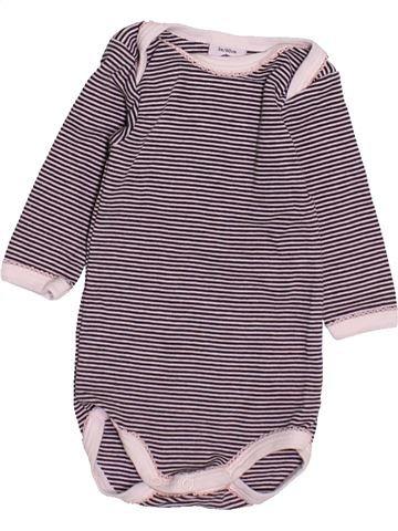 T-shirt manches longues fille PETIT BATEAU gris 3 mois hiver #1491894_1