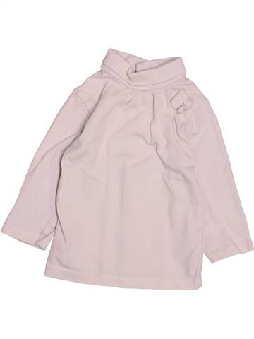 T-shirt col roulé fille KIABI violet 6 mois hiver #1491903_1