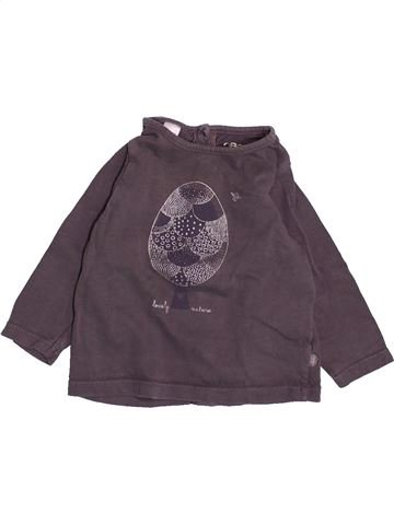 T-shirt manches longues fille OKAIDI violet 6 mois hiver #1491922_1