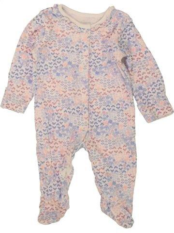 Pyjama 1 pièce fille GEORGE rose 3 mois hiver #1492004_1