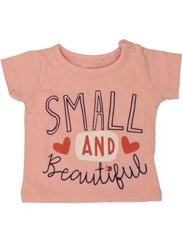 Camiseta de manga corta niña PEP&CO rosa 0 meses verano #1492295_1