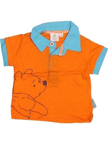 Polo manches courtes garçon DISNEY orange 6 mois été #1492350_1