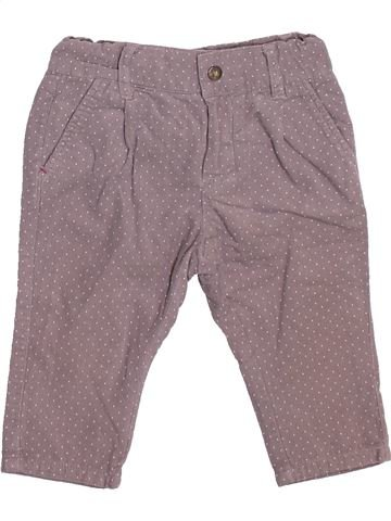Pantalon fille OKAIDI violet 12 mois hiver #1492475_1
