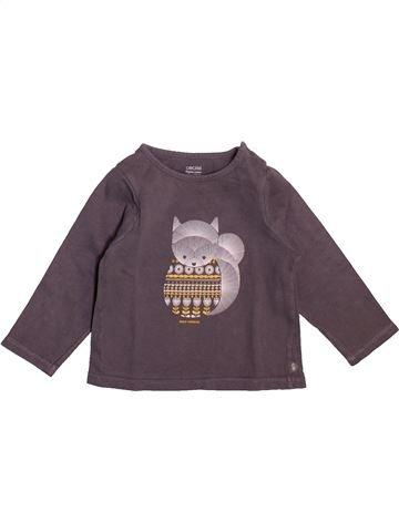 T-shirt manches longues fille OKAIDI marron 12 mois hiver #1492494_1