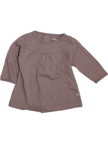 T-shirt manches longues fille KIABI gris 3 mois hiver #1492653_1