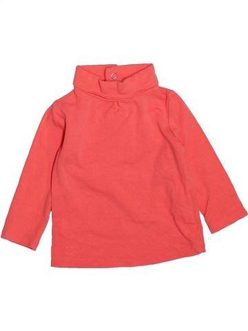 Camiseta de cuello alto niña KIMBALOO rosa 6 meses invierno #1492658_1