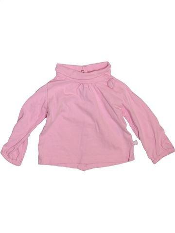 T-shirt col roulé fille GEMO rose 3 mois hiver #1492693_1