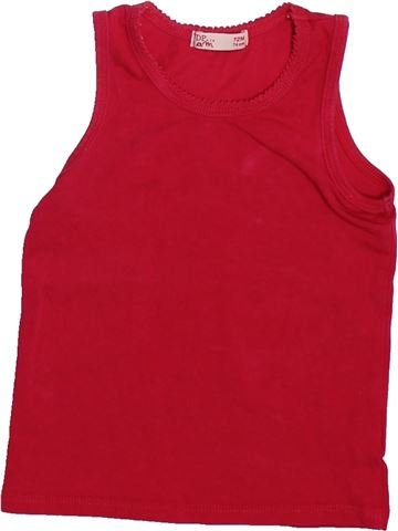 T-shirt sans manches fille DPAM rouge 12 mois été #1492699_1
