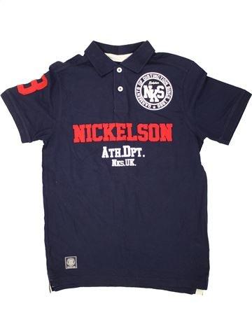 Polo manches courtes garçon NICKELSON bleu 13 ans été #1492708_1