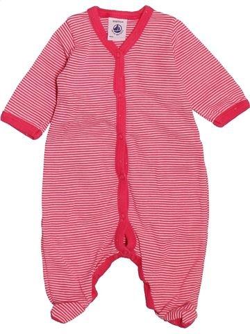 Pyjama 1 pièce fille PETIT BATEAU rose naissance été #1492732_1