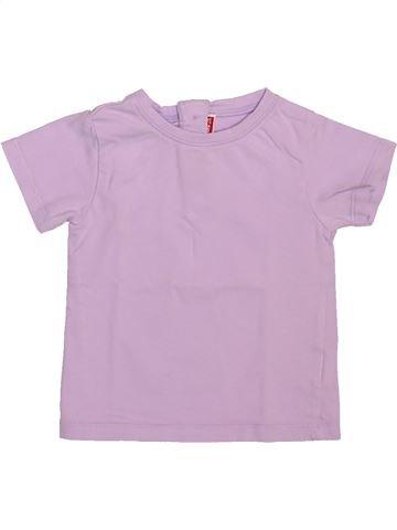 T-shirt manches courtes fille DPAM rose 12 mois été #1492772_1