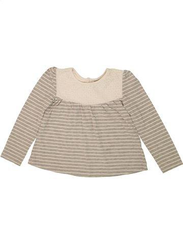 T-shirt manches longues fille TU beige 5 ans hiver #1492909_1