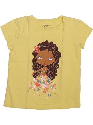 T-shirt manches courtes fille VERTBAUDET jaune 5 ans été #1492942_1