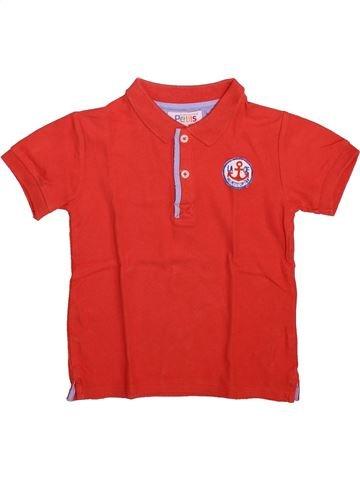 Polo manches courtes garçon LA COMPAGNIE DES PETITS rouge 4 ans été #1492987_1