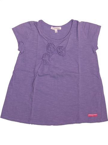 T-shirt manches courtes fille CONFETTI violet 6 ans été #1492999_1