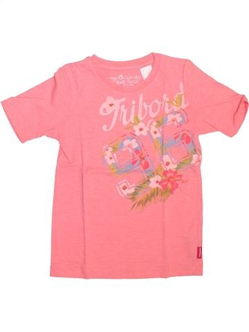 T-shirt manches courtes fille TRIBORD rose 6 ans été #1493004_1