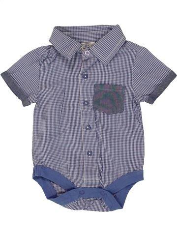 Chemise manches courtes garçon F&F gris 1 mois été #1493027_1