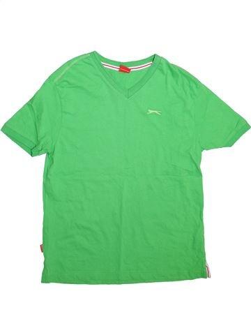 T-shirt manches courtes garçon SLAZENGER vert 13 ans été #1493186_1