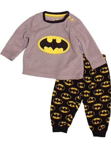 Pyjama 2 pièces garçon SUPERS HÉROS gris 9 mois hiver #1493254_1