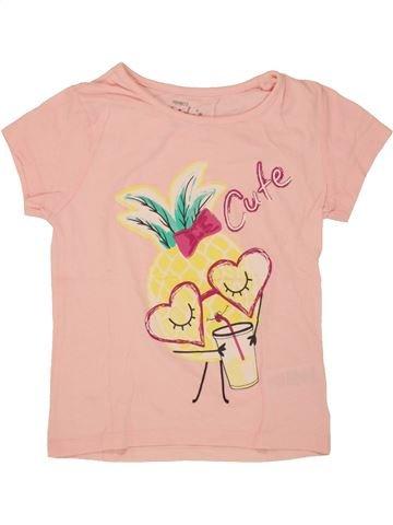 T-shirt manches courtes fille PEP&CO beige 6 ans été #1493348_1