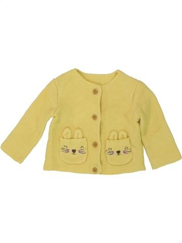 Gilet fille GEORGE jaune 3 mois hiver #1493796_1