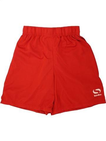 Short de sport garçon SONDICO rouge 13 ans été #1493823_1