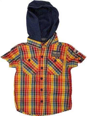 Chemise manches courtes garçon F&F marron 3 ans été #1493826_1