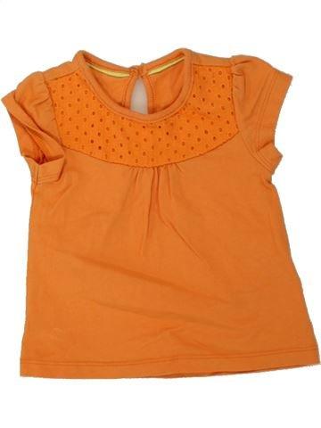 T-shirt manches courtes fille MARKS & SPENCER orange 6 mois été #1493928_1