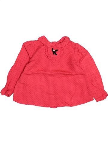 T-shirt manches longues fille TARTINE ET CHOCOLAT rouge 2 ans hiver #1493933_1