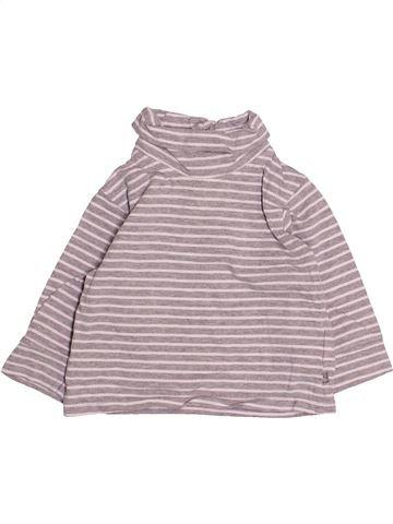 Camiseta de cuello alto niño OKAIDI rosa 12 meses invierno #1494114_1