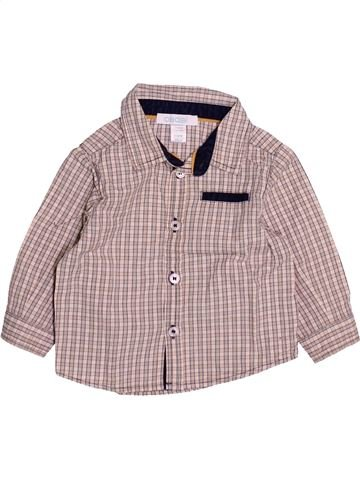 Chemise manches longues garçon OKAIDI beige 6 mois hiver #1494176_1