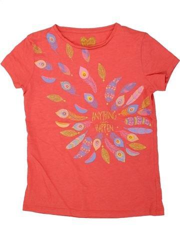 T-shirt manches courtes fille F&F rose 10 ans été #1494487_1