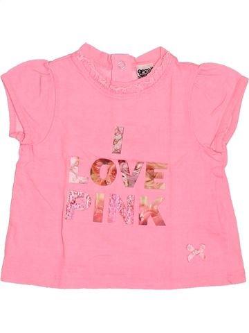 T-shirt manches courtes fille TAPE À L'OEIL rose 6 mois été #1494607_1