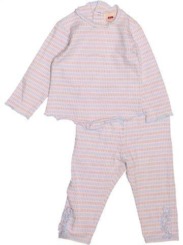 Pyjama 2 pièces fille 3 POMMES violet 9 mois été #1494643_1