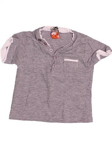 T-shirt manches courtes garçon TAPE À L'OEIL gris 6 mois été #1494656_1