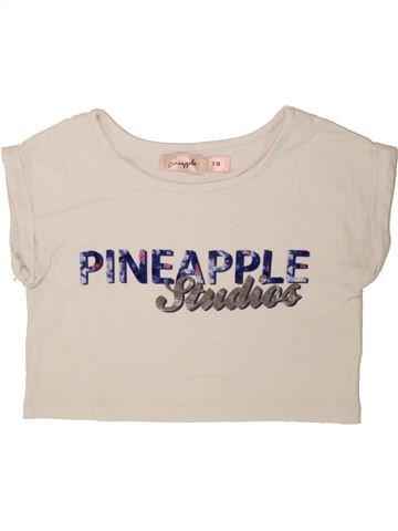T-shirt manches courtes fille PINEAPPLE bleu 8 ans été #1494660_1