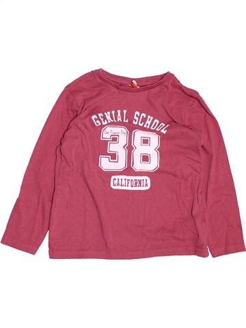 T-shirt manches longues fille TAPE À L'OEIL rose 8 ans hiver #1494726_1