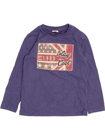 T-shirt manches longues garçon TAPE À L'OEIL bleu 8 ans hiver #1494734_1