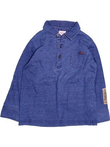 Polo de manga larga niño TAPE À L'OEIL azul 3 años invierno #1494759_1