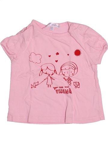 T-shirt manches courtes fille KIABI violet 3 mois été #1494795_1