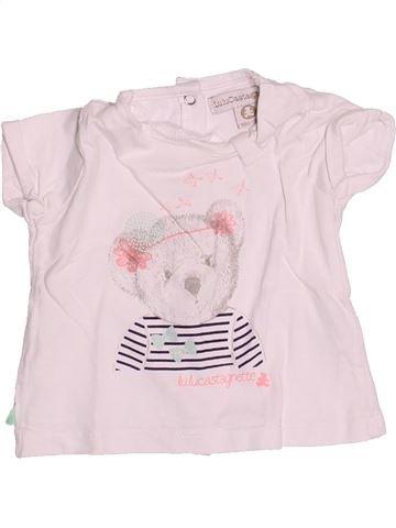 T-shirt manches courtes fille LULU CASTAGNETTE rose 3 mois été #1494801_1